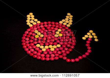 Devil made from candy