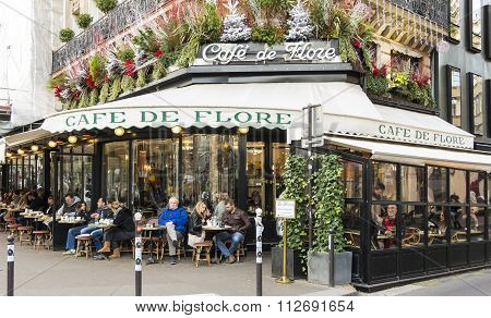 The Cafe De Flore, Paris, France.