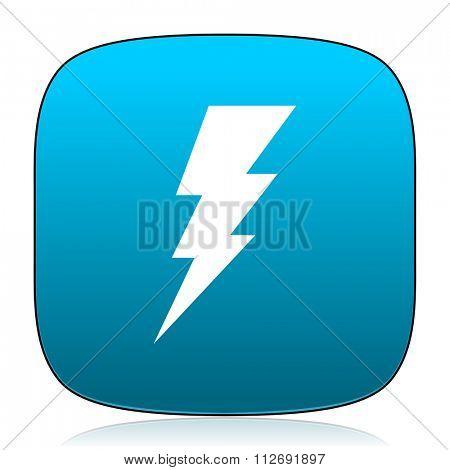bolt blue icon