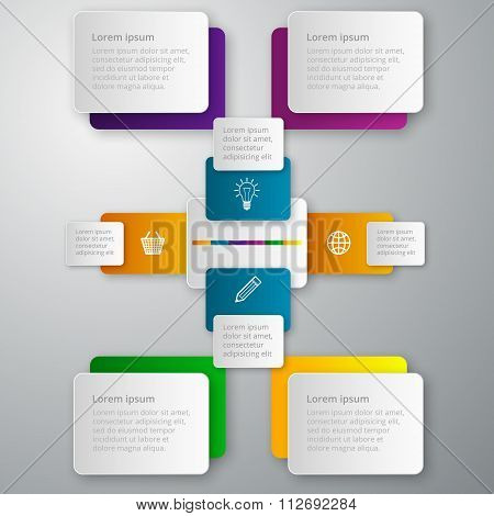 Vector illustration infographics paper rectangles