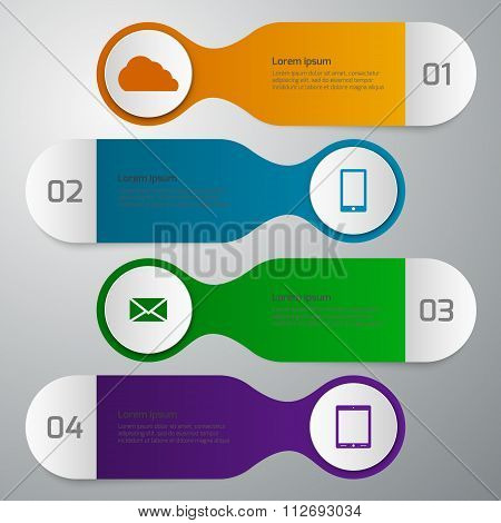 Vector illustration infographics 4 options