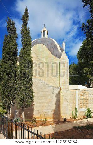 Mount of Olives in East Jerusalem, Israel. Christian chapel