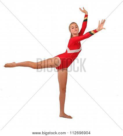 Dancing Blonde Teen girl
