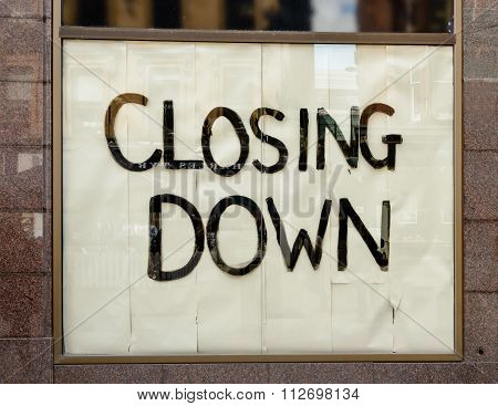 Closing Down Shop Sign