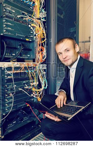 IT Engineer working on a laptop