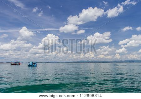 Boat On Sea And Blue Sky
