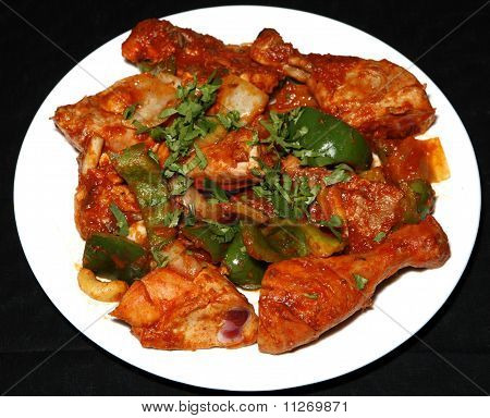 tandoori chicken in plate