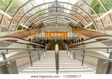 St Enoch Underground Entrance