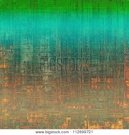 Vintage texture with space for text or image. With different color patterns: yellow (beige); brown; blue; red (orange); green