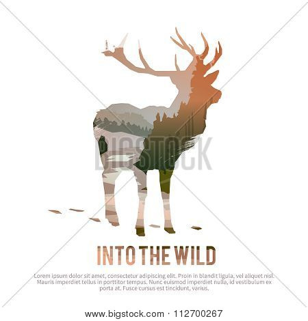Deer. Vector illustration.