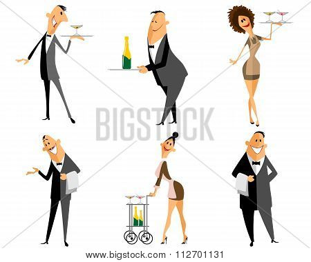 Waiter And Waitress Set