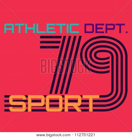 athletic dept. typography, t-shirt graphics
