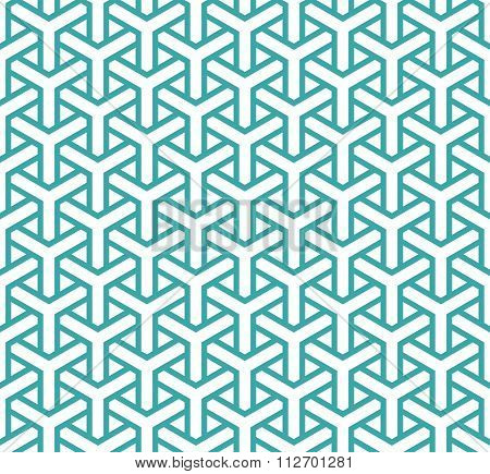 Geometric Seamless Pattern In Asian Style