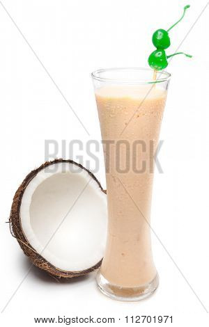 Refreshing coconut  juice with milk