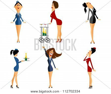 Six Stewardess Set