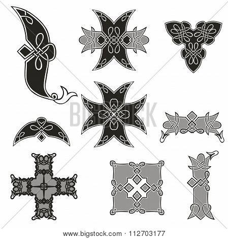 set of beautiful Celtic patterns
