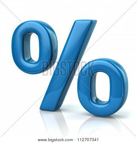 Blue Percent Sign