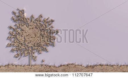 Forest Landscape Sculpted Sand Bottom