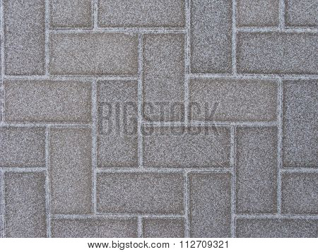Snow-covered Paving Slabs Texture
