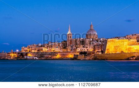 Valetta by night, Malta