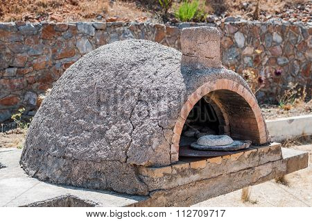 Old oven of stone age on Crete island, Greece