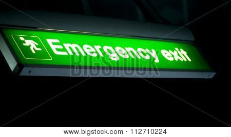 Airport Information Emergency Exit Sign