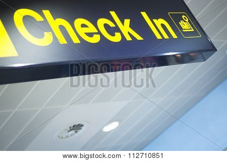 Airport Information Sign For Checkin
