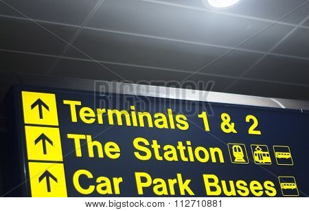 Airport Terminals And Station Sign