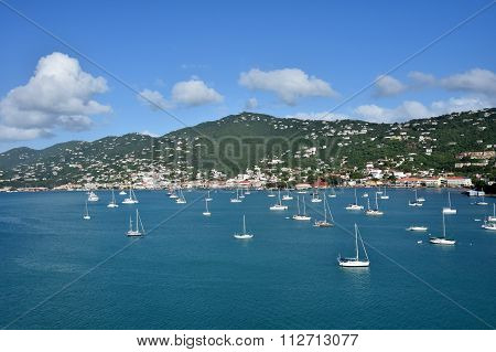 Caribbean Island Scenery From St Thomas, Usvi