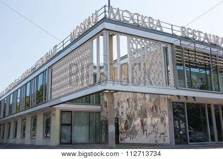 Berlin, Germany - August 30, 2015: Café  Moskau, Last Of Only Seven International State-owned Restau