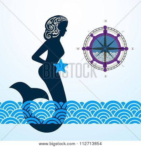 Mermaid compass waves