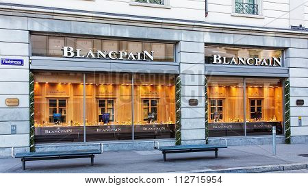 Windows Of The Blancpain Store In Zurich