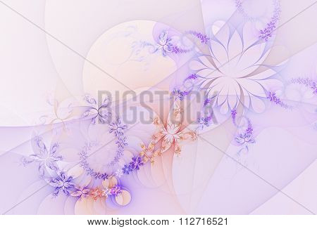 abstract fractal background, flowers