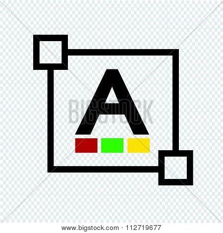 Text  Color Font Edit Letter Icon