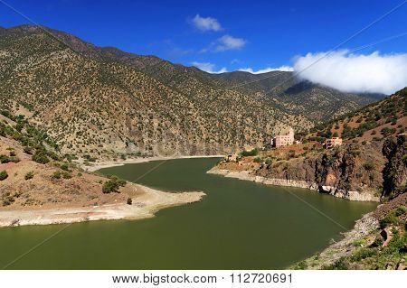 Dam in Atlas Mountains, Morocco, Africa