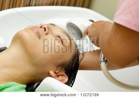 Hair Shampoo At Hairdressing Salon