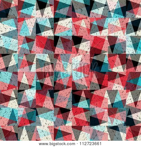 Colored Triangles Abstract Background Vector Illustration