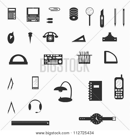 Office Supplies Symbol Vector Illustration