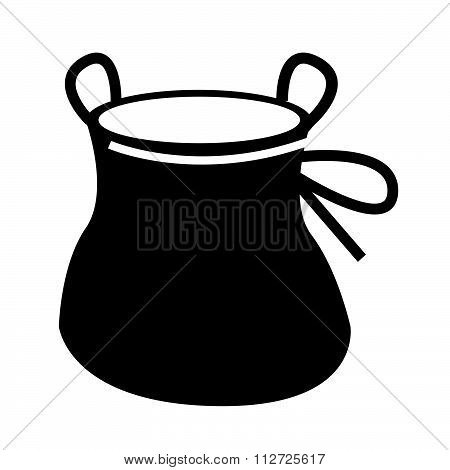 Chalk Bag Climb Icon Design Illustration