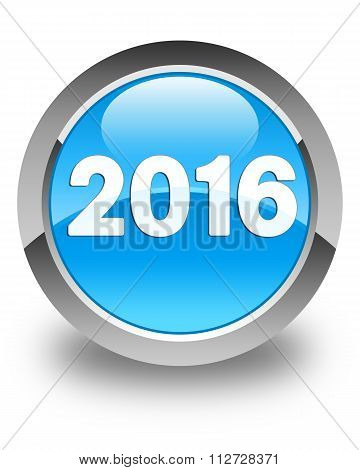 2016 Cyan Blue Round Button 2