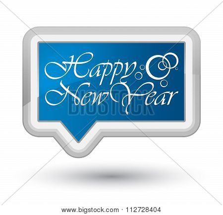Happy New Year Blue Banner Button 2