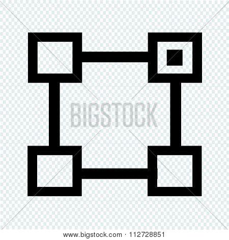 Org Unit Vector Symbol Line Icon