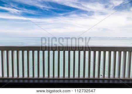 Balcony With Breath-taking Scenic Sea View With Horizon