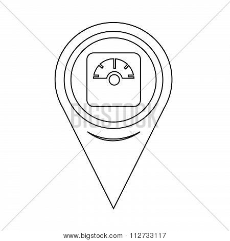 Map Pin Pointer Weighting Apparatus Icon
