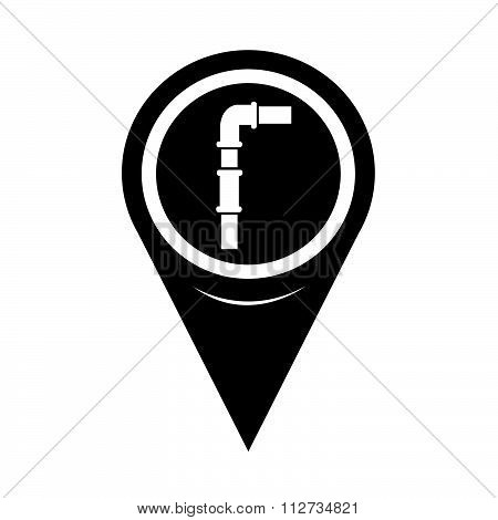 Map Pin Pointer Pipes Icon