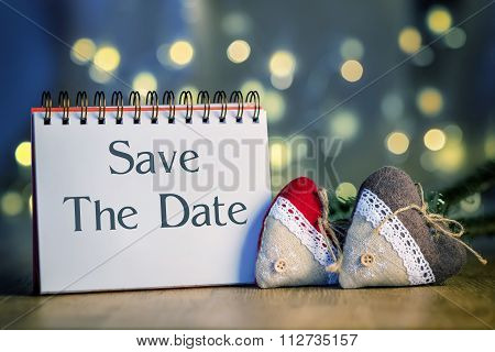 Ring Binder With Text Save The Date