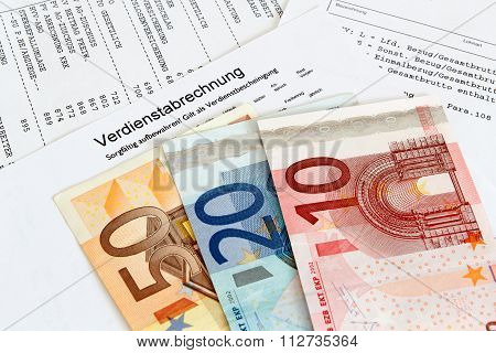Payroll With Banknotes
