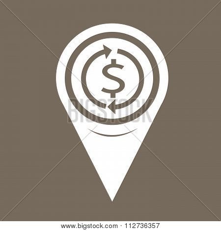 Map Pin Pointer Money Dollar Sign Icon