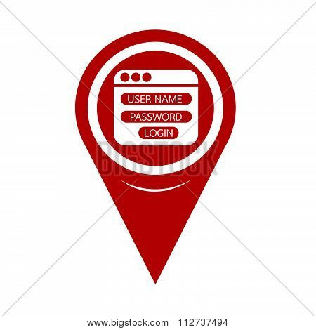 Map Pin Pointer Website Login Form Icon