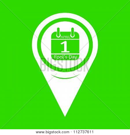 Map Pin Pointer Calendar Of April Fools Day Icon